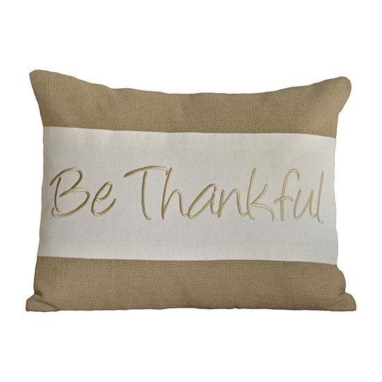 Ashton And Willow Be Thankful 14x18 Lumbar Pillow