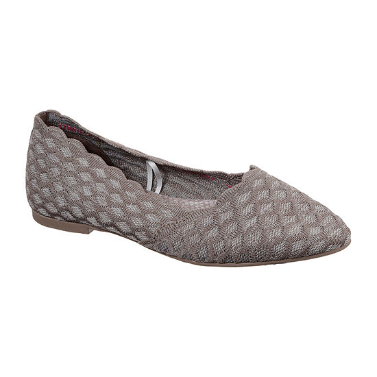 Skechers Womens Cleo - Honeycomb Ballet Flats Pointed Toe