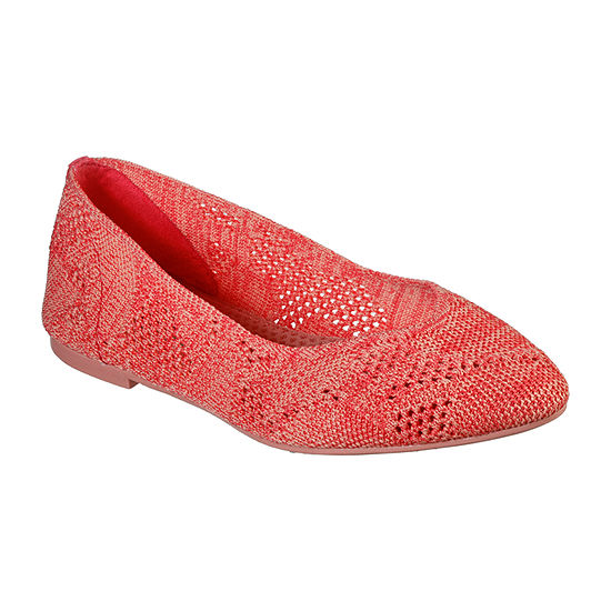 Skechers Womens Cleo-Knitty City Ballet Flats Pointed Toe