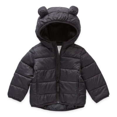 Okie Dokie Baby Boys Hooded Packable Midweight Puffer Jacket