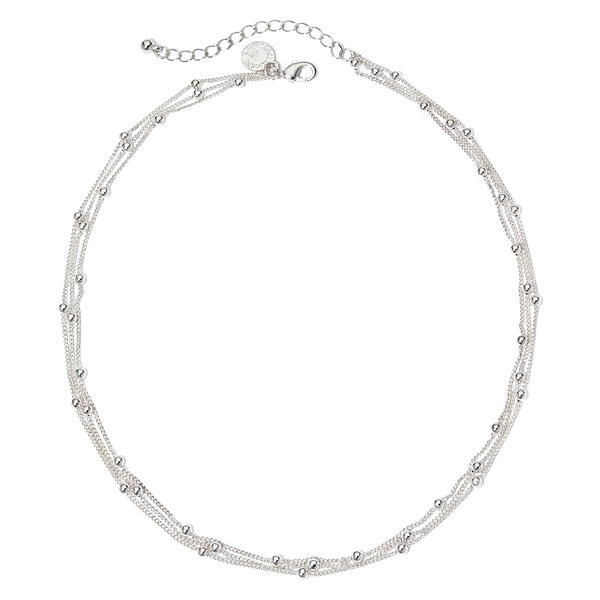 Liz Claiborne® Silver-Tone 3-Strand Ball Layered Necklace