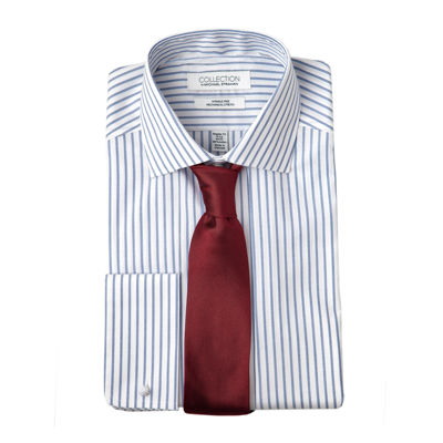 Collection by Michael Strahan Cotton Stretch Dress Shirt with French Cuffs