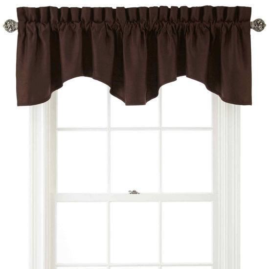 Royal Velvet® Supreme Rod-Pocket Lined Scalloped Valance