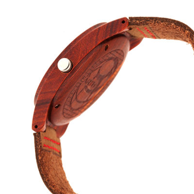 Earth Wood Unisex Brown Strap Watch-Ethew4103