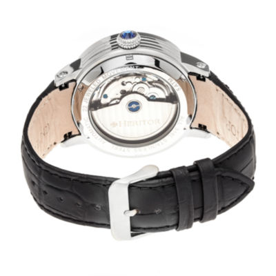 Heritor Mens Black Strap Watch-Herhr4302