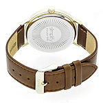 Simplify Unisex Brown Strap Watch-Sim2903