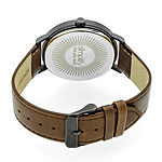 Simplify Unisex Brown Leather Strap Watch-Sim2905