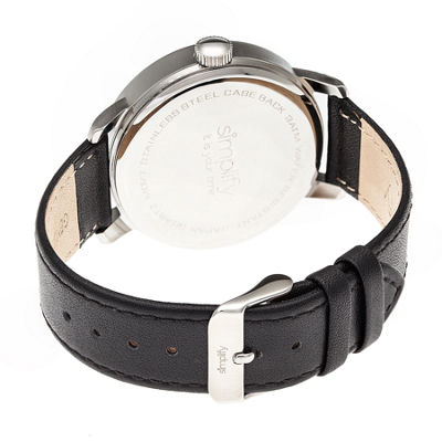 Simplify Unisex Black Strap Watch-Sim3402