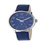 Simplify Unisex Blue Leather Strap Watch-Sim3404