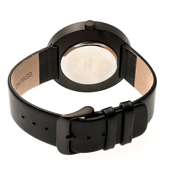 Simplify Unisex Black Strap Watch-Sim4101