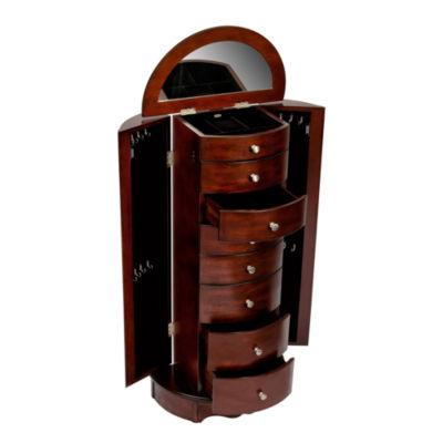 Walnut Jewelry Armoire