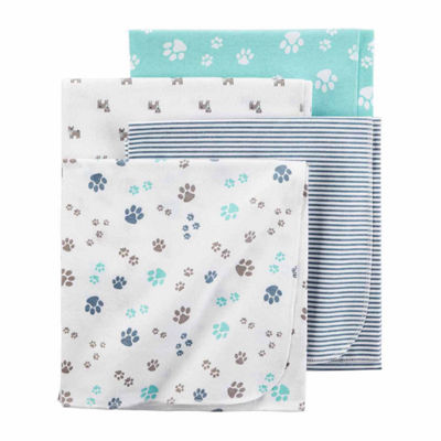 Carter's Boy Gray Pup 4pk Blankets