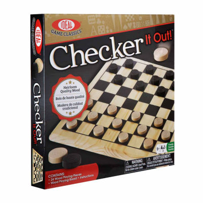 Ideal Checker It Out Game Board Game