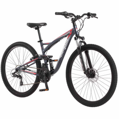 "Mongoose Status 2.4 27.5"" Mens Full Suspension Mountain Bike"