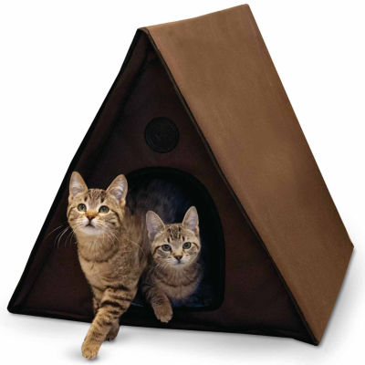 "K & H Manufacturing Outdoor Multiple Kitty A-Frame unheated, 35"" x 20.5"" x 20"""