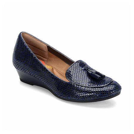 Comfortiva Ashten Slip On Wedge, 6 Medium, Blue