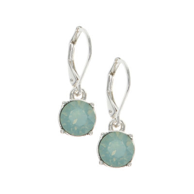 Gloria Vanderbilt Green Circle Drop Earrings