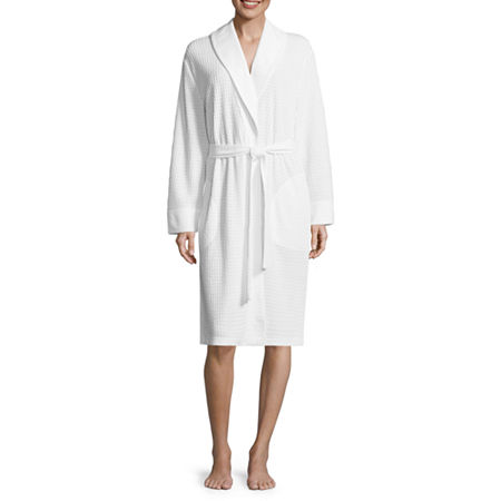 Closure Type: TiePockets: 2 Side Slip PocketsSleeve Length: Long SleeveSleeve Style: Kimono SleeveApparel Length: 42 InchesFabric Content: 100% PolyesterFabric Description: KnitLining: UnlinedRobe Length: Mid LengthCare: Machine Wash, Tumble DryCountry of Origin: Imported