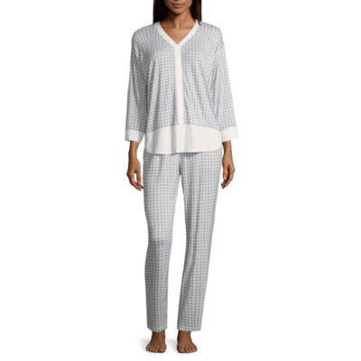 Liz Claiborne 2-pc. Pattern Pant Pajama Set