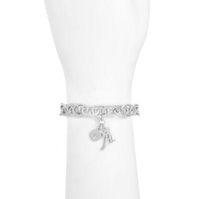 Liz Claiborne Womens Clear Charm Bracelet