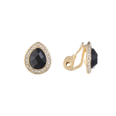 Monet Jewelry Black Clip On Earrings