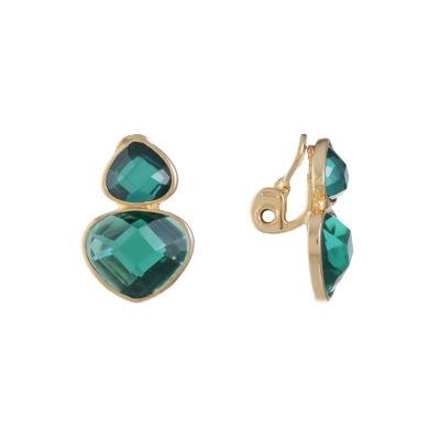Monet Jewelry Green Clip On Earrings