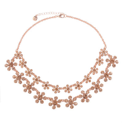 Monet Jewelry Womens Orange Statement Necklace
