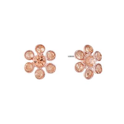 Monet Jewelry Orange 15mm Stud Earrings