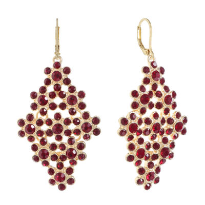Monet Jewelry Red Chandelier Earrings