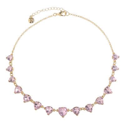 Monet Jewelry Womens Heart Collar Necklace