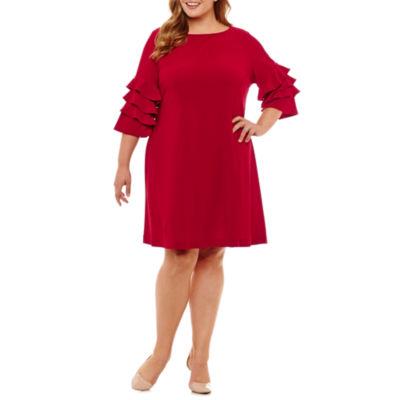 Danny & Nicole 3/4 Sleeve Sheath Dress - Plus