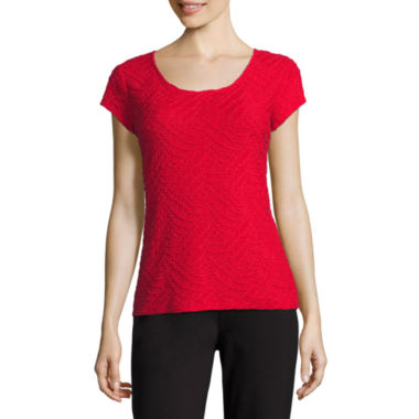 Liz Claiborne Short Sleeve Crew Neck T-Shirt-Womens - Tall