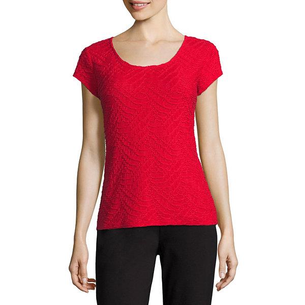 Liz claiborne short sleeve crew neck t shirt womens talls for Womens tall t shirts