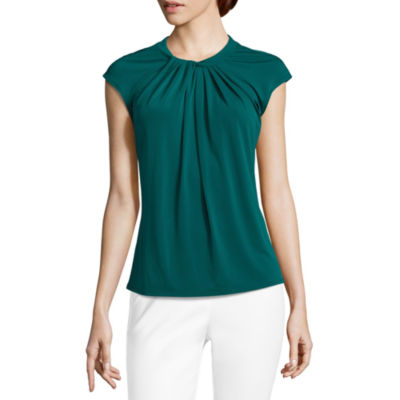 Liz Claiborne Twist Neck Top- Talls