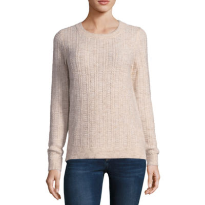 Liz Claiborne Long Sleeve Pullover Sweater-Talls