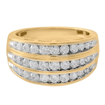 Womens 1 CT. T.W. Genuine Diamond 10K Gold Wedding Band