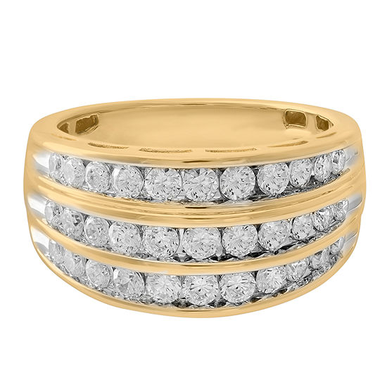 1 CT. T.W. Genuine Diamond 10K Gold Wedding Band