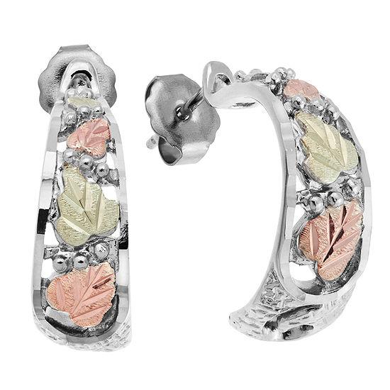 Landstroms Black Hills Gold Sterling Silver Hoop Earrings