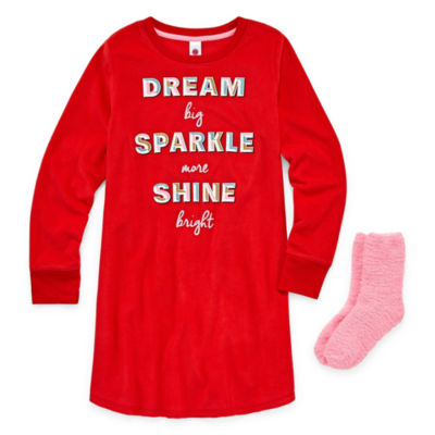 Total Girl Long Sleeve Nightgown-Big Kid Girls