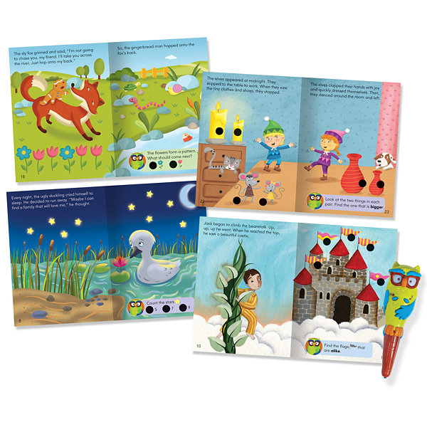Educational Insights Hot Dots® Jr. Favorite FairyTales Interactive Storybook Set with Ollie Pen