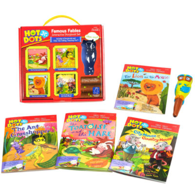 Educational Insights Hot Dots® Jr. Famous FablesInteractive Storybook Set with Ollie Pen