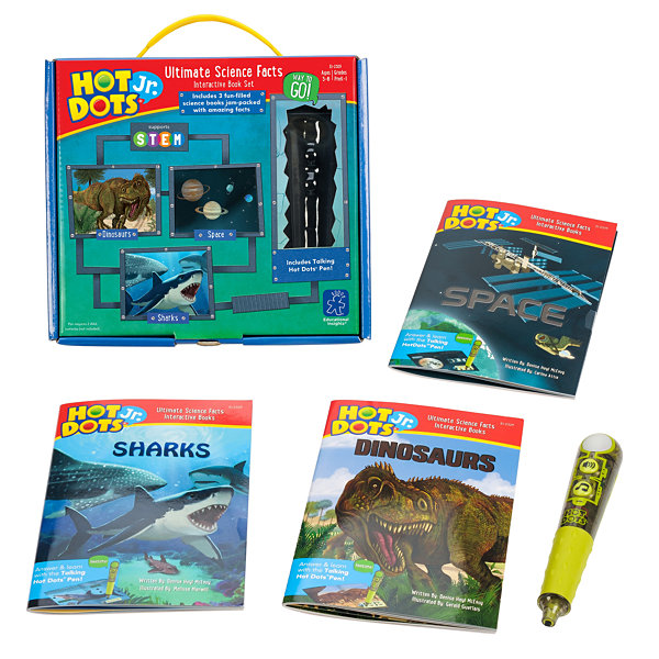 Educational Insights Hot Dots® Jr. Ultimate Science Facts Interactive Book Set with Talking Pen