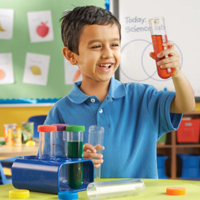 Learning Resources Primary Science Jumbo Test Tubes with Stand