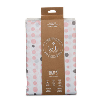 Lolli Living Pink Dots Crib Bed Skirt
