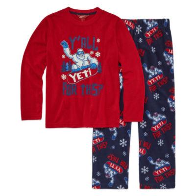 Arizona Husky 2 pc Yeti Pajama Set - Boys