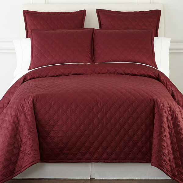Royal Velvet Diamond 3-pc. Coverlet Set