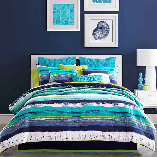 Queen Street Cameron Stripes Midweight Comforter Set