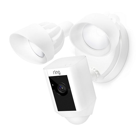 Ring Outdoor Wi-Fi Cam with Motion Activated Floodlight - White