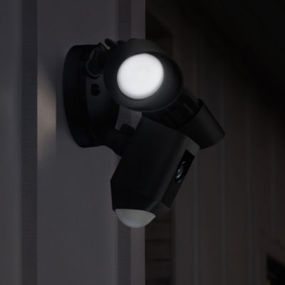 Ring Outdoor Wi-Fi Cam with Motion Activated Floodlight - Black