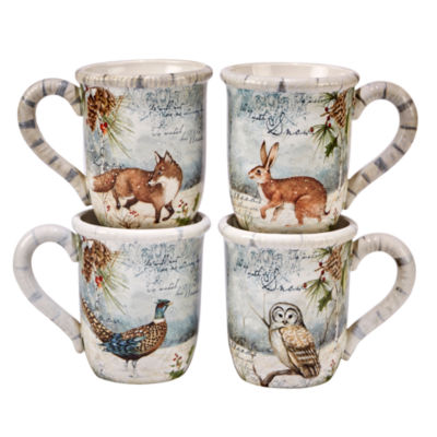Certified International Christmas 4-pc. Coffee Mug